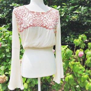 MINKPINK Embroidered Crop Top